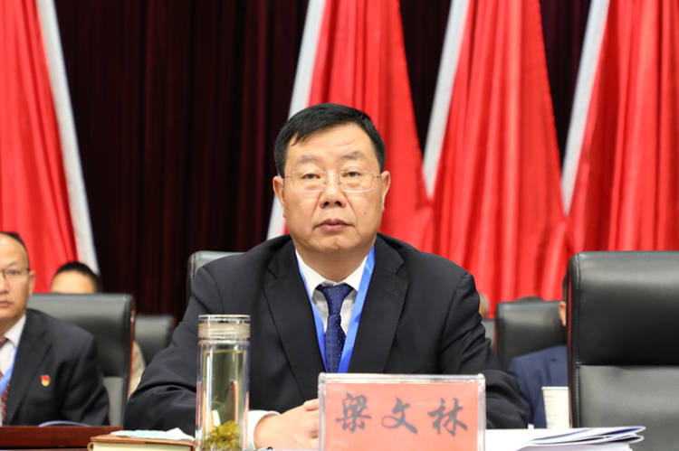 中共双柏县委副书记、县人民政府县长梁文林出席会议