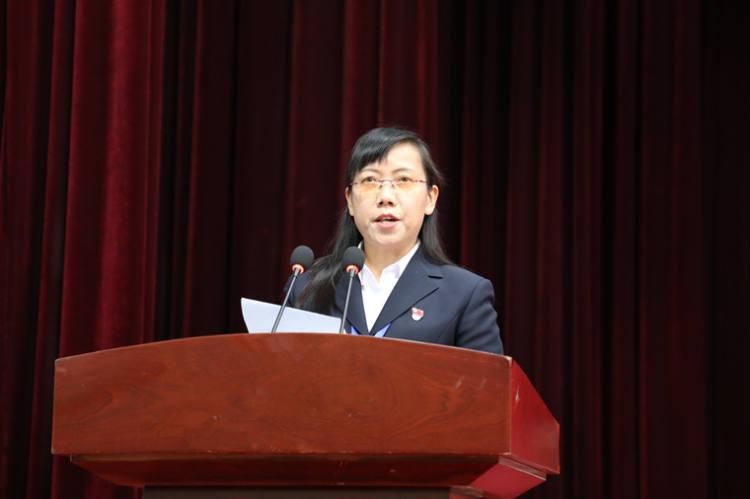 双柏县九届政协副主席苏秀华向大会报告九届四次会议以来提案工作情况